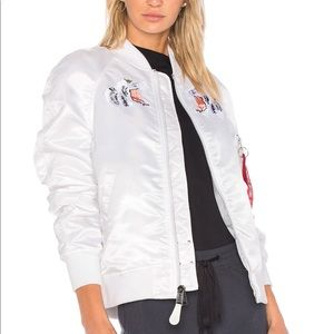 Alpha Industries MA-1 Souvenir Tiger White Jacket
